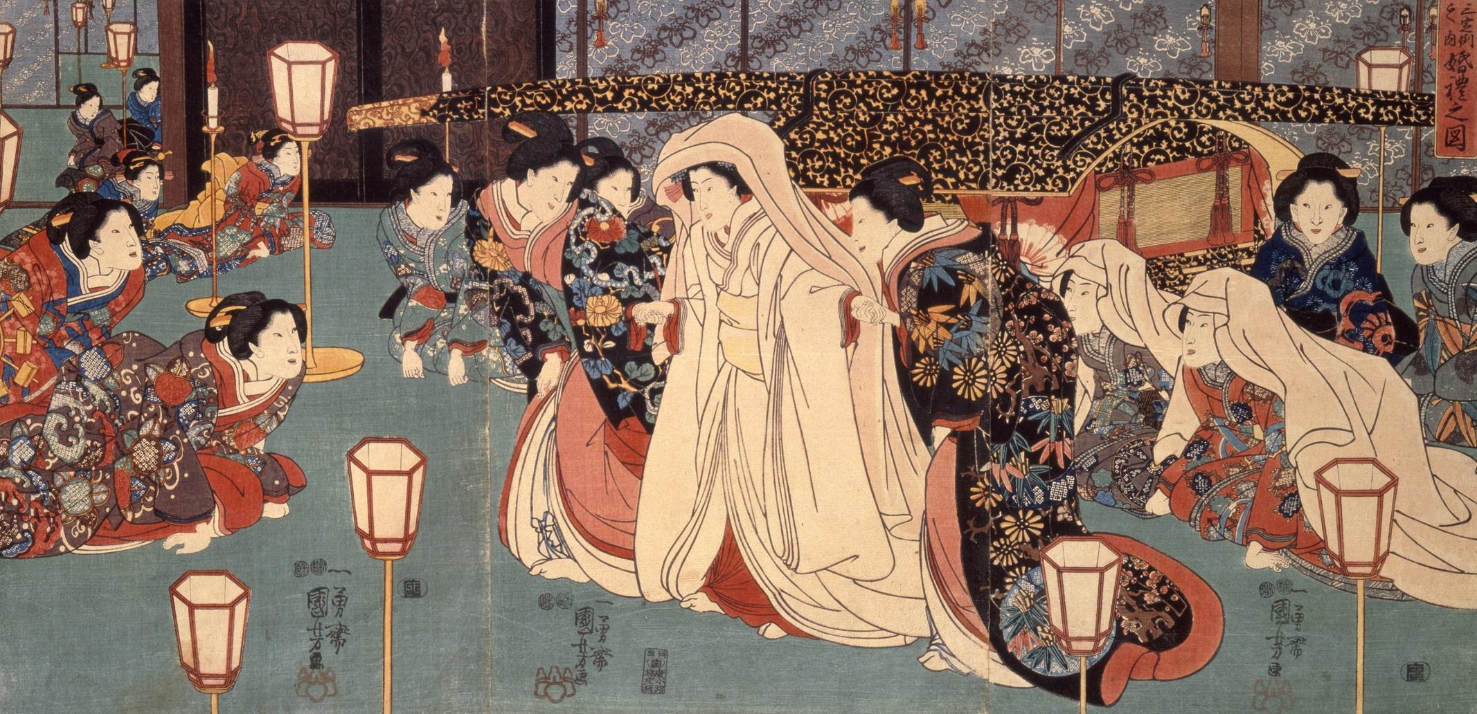 「三定例之内婚礼之図」一勇斎国芳 嘉永元年