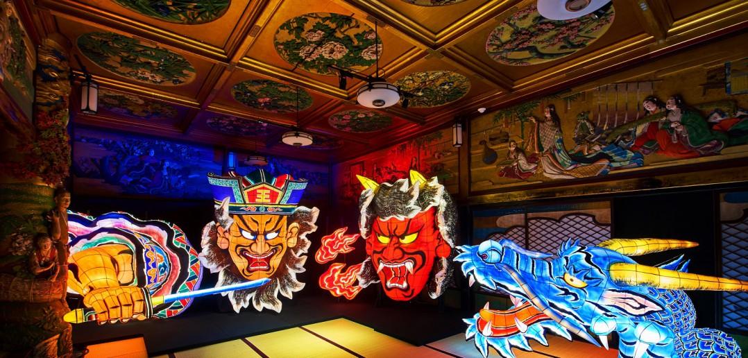「和のあかり×百段階段」展 2016 目黒雅叙園の色彩空間に輝く「あかり」(amuzen article)