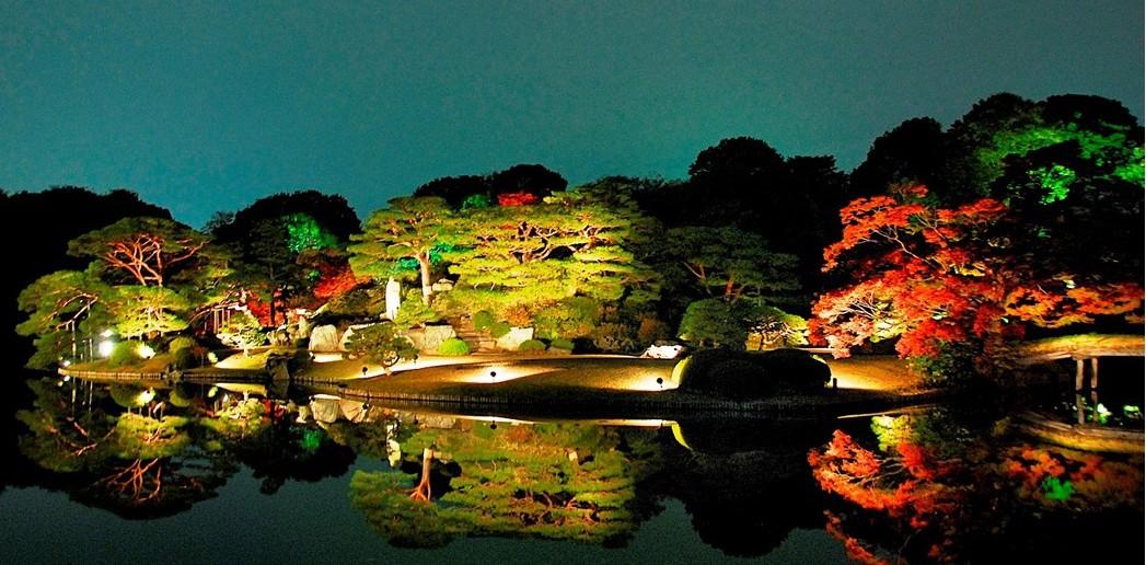 六義園「紅葉と大名庭園のライトアップ」2016 (amuzen article)