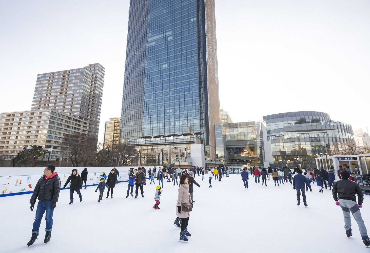 tokyo midtown ice rink 2017 by day