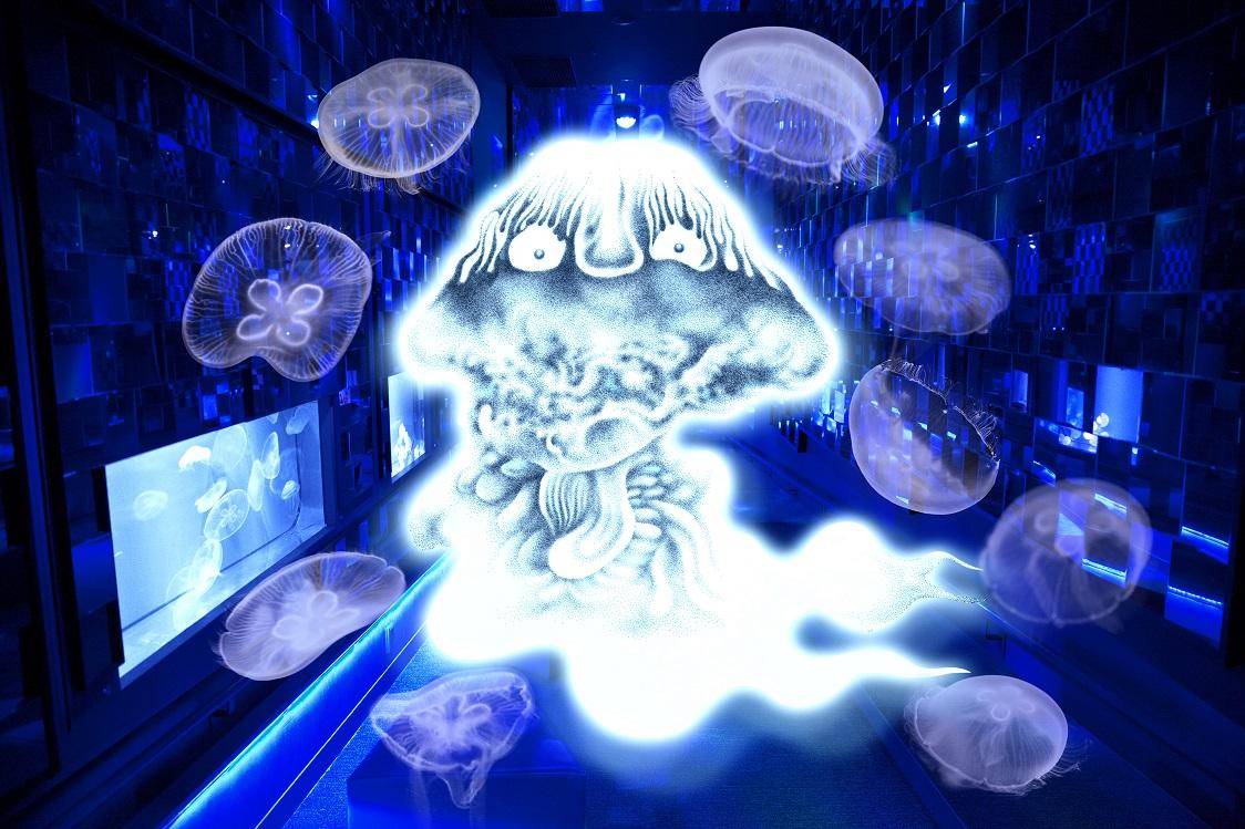 水木しげる×すみだ水族館 水の妖怪トンネル(amuzen article)