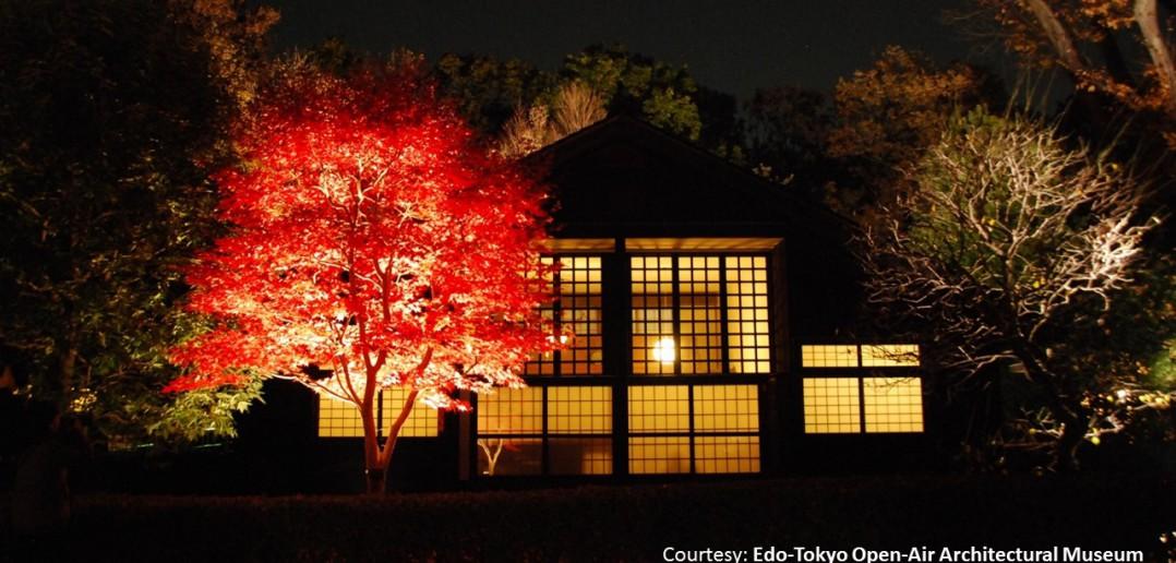 江戸東京たてもの園 紅葉ライトアップ2017