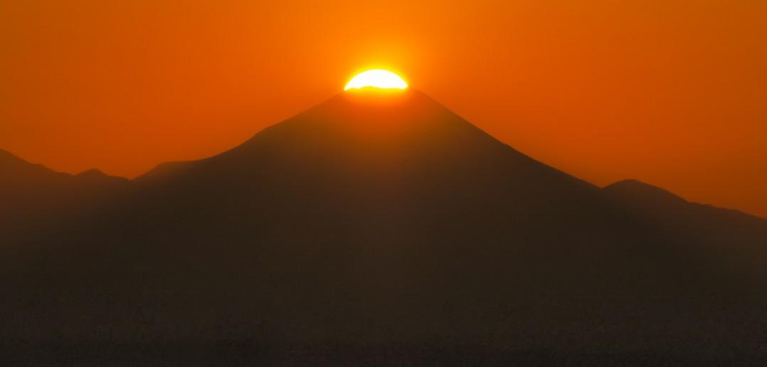サンシャイン60展望台 ダイヤモンド富士